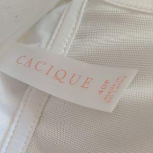 Cacique Intimates & Sleepwear - Front close lace racer back cotton Cacique bra